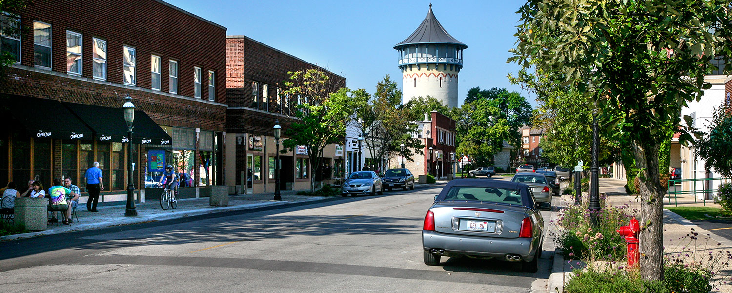 Burlington Street in Riverside, Illinois